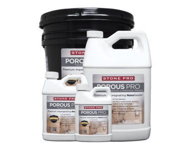Porous Pro impregnating nanosealer for natural stone
