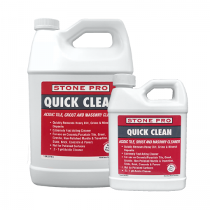 Quick Clean acidic tile grout and masonry cleaner