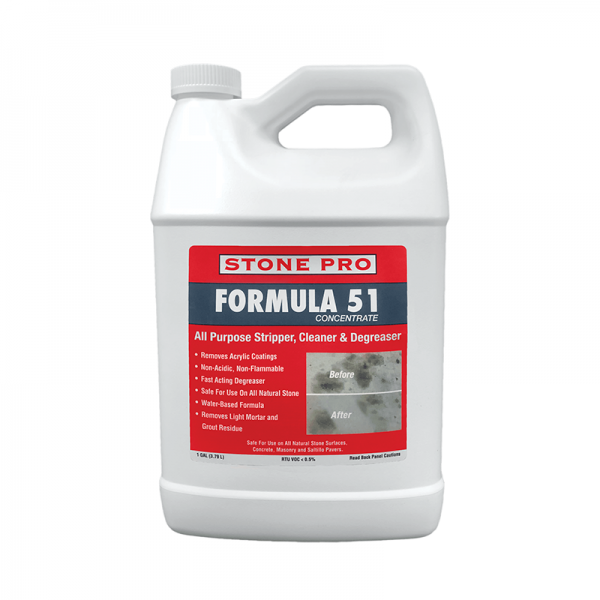 stonepro formula 51 all purpose stripper cleaner and degreaser for natural stone